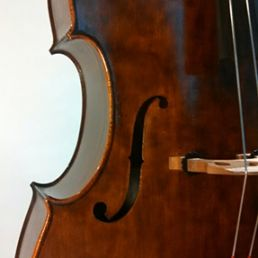 3/4 Walnut Orchestra Model, March '15- f-hole
