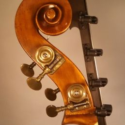 3/4 Walnut Orchestra Model, March '15 - scroll